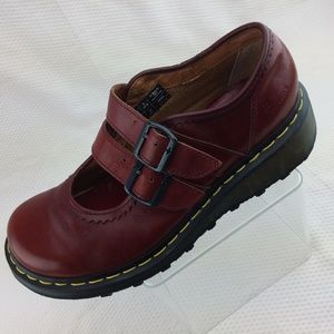 Dr. Martens Red Double Strap Mary Jane